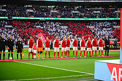 ARSENAL LINE UP FOR PRESENTATIONS, Arsenal v Manchester City Carabao League Cup Final, Wembley Stadium, Sunday 25th February 2018, Score Arsenal 0- Man City 3.