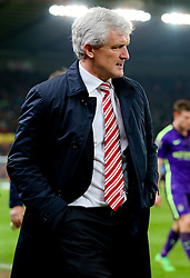 Stoke City Manager Mark Hughes - Photo mandatory by-line: Matt McNulty/JMP - Mobile: 07966 386802 - 11/02/2015 - SPORT - Football - Stoke - Britannia Stadium - Stoke City v Manchester City - Barclays Premier League