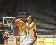"Ole Miss' Shae Nelson (1) shoots vs. Arizona at the C.M. ""Tad"" Smith Coliseum in Oxford, Miss. on Thursday, November 18, 2010. Arizona won 72-70."