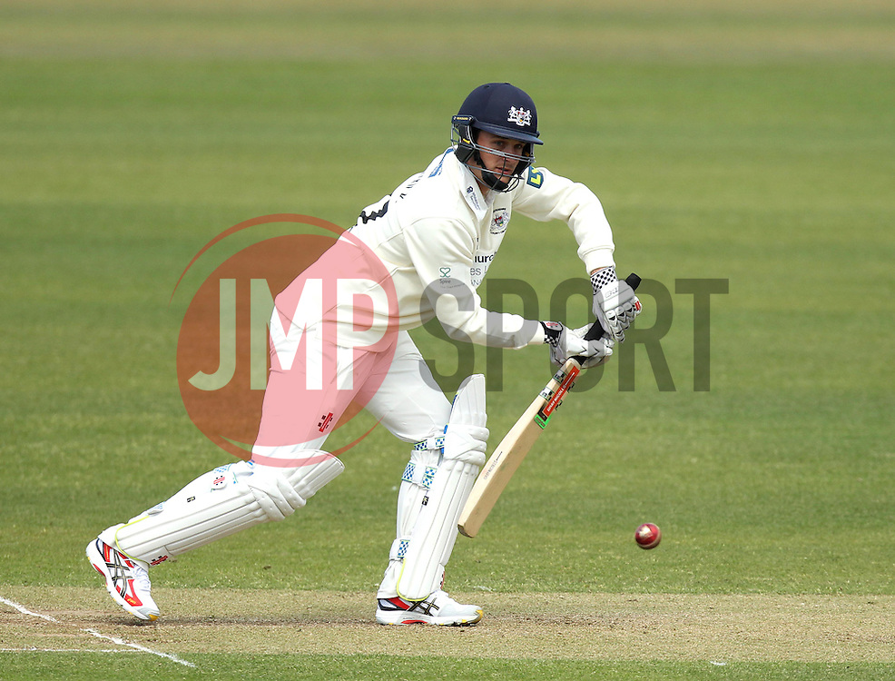 Gloucestershire's Gareth Roderick bats - Photo mandatory by-line: Robbie Stephenson/JMP - Mobile: 07966 386802 - 28/04/2015 - SPORT - Cricket - Bristol - The County Ground - Gloucestershire v Derbyshire - County Championship Division Two
