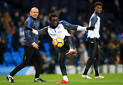 Fousseni Diabate of Leicester City warms up - Mandatory by-line: Matt McNulty/JMP - 10/02/2018 - FOOTBALL - Etihad Stadium - Manchester, England - Manchester City v Leicester City - Premier League