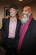 l to r: Gil Scott-Heron and Richie Havens backstage at Gil Scott Heron Produced by Jill Newman Productions and held at BB King on November 4, 2009 in New York City