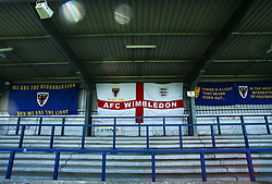 A general view of the stadium - Mandatory by-line: Arron Gent/JMP - 19/04/2019 - FOOTBALL - Cherry Red Records Stadium - Kingston upon Thames, England - AFC Wimbledon v Bristol Rovers - Sky Bet League One- Mandatory by-line: Arron Gent/JMP