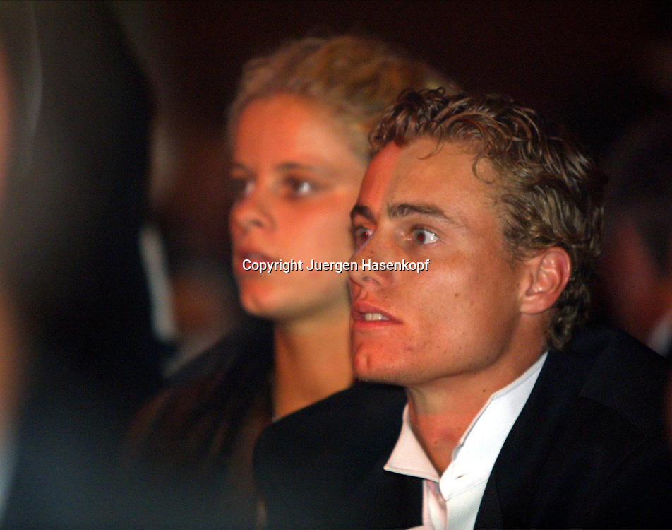 Sport,Tennis,Hopman Cup in Perth,Australien,Mixed<br /> Doubles WM, Lleyton Hewitt und Freundin Kim Clijsters beim Silvester Ball, 31.12.2001.