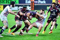 Florian FRITZ / Rabah SLIMANI - 24.04.2015 - Stade Francais / Stade Toulousain - 23eme journee de Top 14<br />Photo : Dave Winter / Icon Sport