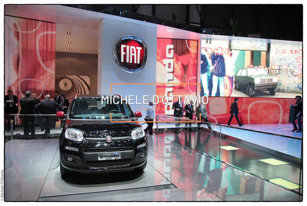 Stand Fiat al Salone dell'auto di Ginevra 2012.Geneve international motor show
