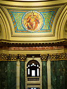 "Mosaic of ""Government."" Interior view of the Wisconsin State Capitol Building, Madison, Wisconsin, USA."