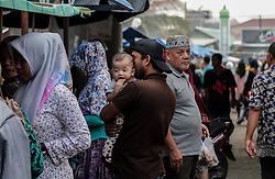 May 28, 2017 - Lhokseumawe, Aceh, Indonesia - Indonesian Muslims prepare to break their fast by buying food at a special market during Ramadan on 30 May 2017 in Lhokseumawe, Aceh Province, Indonesia...Muslims around the world mark the month of Ramadan where people do not eat, drink, smoke and have sex from dawn until sunset. (Credit Image: © Fachrul Reza/NurPhoto via ZUMA Press)