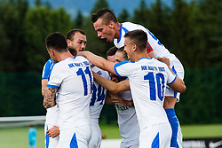 Players of NK Nafta 1903 during the football match between NK Kalcer Radomlje and NK Nafta 1903 in Semifinals of Slovenian football Cup 2019/20, on 10th of June, 2020 in NNC Brdo, Brdo pri Kranju, Slovenia. Photo by Grega Valancic / Sportida