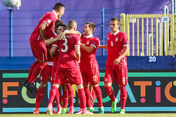 June 20, 2017 - Bydgoszcz, Poland - Mijat Gacinovic of Serbia celebrates with team mates after scoring his team's first goal during the UEFA European Under-21 Championship match between Serbia and Macedonia at Bydgoszcz stadium on June 20, 2017 in Bydgoszcz, Poland. (Credit Image: © Foto Olimpik/NurPhoto via ZUMA Press)