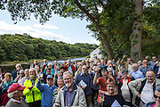 A toast to Investors and locals attending the  official opening of Halton Lune Hydro, Halton, Lancashire.