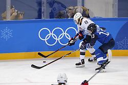 February 11, 2018 - Pyeongchang, KOREA - United States forward Gigi Marvin (19) battles Finland forward Riikka Valila (13) during women's hockey group A play during the Pyeongchang 2018 Olympic Winter Games at Kwandong Hockey Centre. The USA beat Finland 3-1. (Credit Image: © David McIntyre via ZUMA Wire)