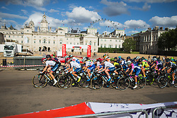 The peloton rides past the Horse Guards during the Prudential RideLondon Classique - a 64.8 km road race, starting and finishing in central London on July 28, 2018, in London, United Kingdom. (Photo by Balint Hamvas/Velofocus.com)