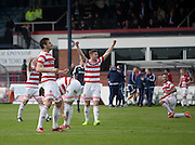 Hamilton Academical players at the final whistle  - Dundee v Hamilton Academical, Ladbrokes Scottish Premiership at Dens Park<br /> <br /> <br />  - &copy; David Young - www.davidyoungphoto.co.uk - email: davidyoungphoto@gmail.com