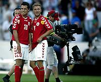 Fotball<br /> Euro 2004<br /> Portugal<br /> 14. juni 2004<br /> Foto: Pro Shots/Digitalsport<br /> NORWAY ONLY<br /> Italia v Danmark<br /> kenneth perez og dennis rommedahl