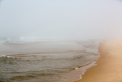 foggy day at the beach in The Hamptons