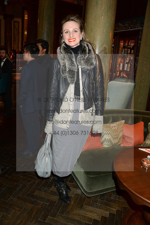 BRIONY DANIELS at the launch of Rosewood London - a new luxury hotel at 252 High Holborn, London WC1 on 30th October 2013.