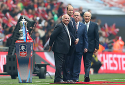 FA Chairman Gregg Dyke, HRH Prince William and Special guests from Sponsors of the FA Cup, Emirates, with the trophy  - Mandatory by-line: Robbie Stephenson/JMP - 21/05/2016 - FOOTBALL - Wembley Stadium - London, England - Crystal Palace v Manchester United - The Emirates FA Cup Final