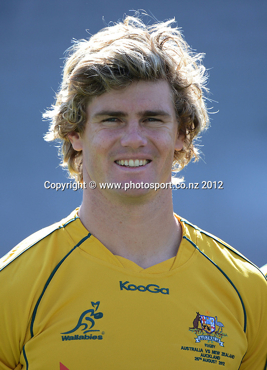 Australian midfielder Berrick Barnes during the Australian Wallabies Captain's Run at Eden Park ahead of the Bledisloe Cup and Rugby Championship test match against the New Zealand All Blacks tomorrow. Friday 24 August 2012. Photo: Andrew Cornaga/Photosport.co.nz