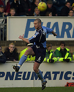 Photo Peter Spurrier.22/02/2003.Sport - Nationwide Football League Div 2.Wycombe Wanders v Wigan Athletic.mark Rodgers