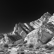 Mormon Rocks - Northwest View Close - Infrared Black & White