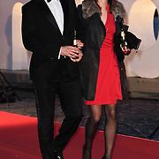 NLD/Amsterdam/20120404 - Opening filmmuseum Eye, Victor Reinier en partner Aimee Kiene