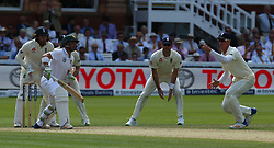 July 7, 2017 - London, United Kingdom - England's Keaton Jennings on right.during 1st Investec Test Match between England and South Africa at Lord's Cricket Ground in London on July 07, 2017  (Credit Image: © Kieran Galvin/NurPhoto via ZUMA Press)