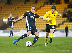 Falkirk's Will Vaulks and  Livingston Jack Beaumont.<br /> Livingston 0 v 1 Falkirk, Scottish Championship played13/12/2014 at The Energy Assets Arena.