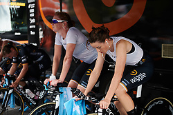 Audrey Cordon-Ragot (FRA) warms up for the UCI Road World Championships 2018 - Women's Team Time Trial, a 54 km team time trial in Innsbruck, Austria on September 23, 2018. Photo by Sean Robinson/velofocus.com