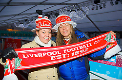 EINDHOVEN, THE NETHERLANDS - Tuesday, December 9, 2008: Liverpool supporters Hayley (L) and Paula, who play for Sefton Peronni women's team, in Eindhoven ahead of the final UEFA Champions League Group D match against PSV Eindhoven. (Photo by David Rawcliffe/Propaganda)