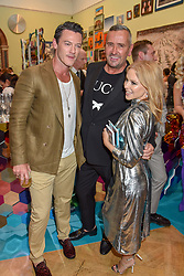 Luke Evans, Fat Tony and Kylie Minogue at The Royal Academy of Arts Summer Exhibition Preview Party 2019, Burlington House, Piccadilly, London England. 04 June 2019.