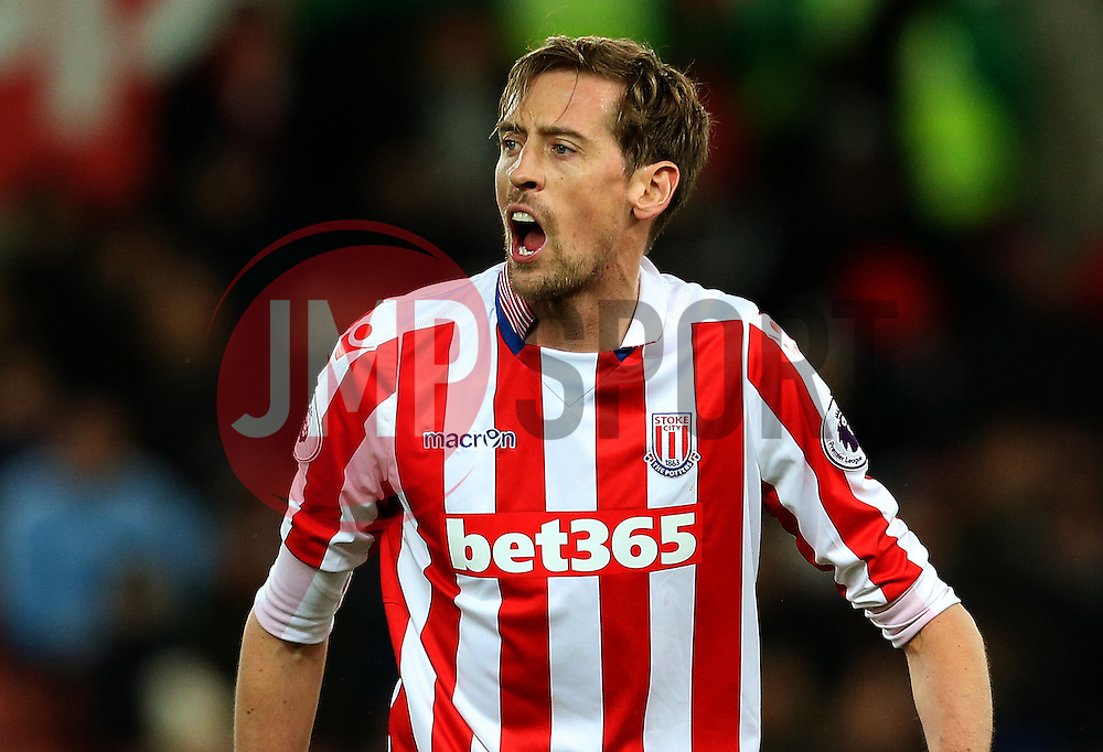 Peter Crouch of Stoke City - Mandatory by-line: Matt McNulty/JMP - 01/02/2017 - FOOTBALL - Bet365 Stadium - Stoke-on-Trent, England - Stoke City v Everton - Premier League