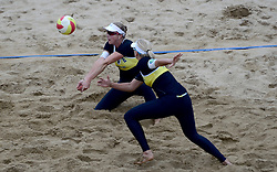 16-08-2014 NED: NK Beachvolleybal 2014, Scheveningen<br /> Madelein Meppelink, Marleen van Iersel