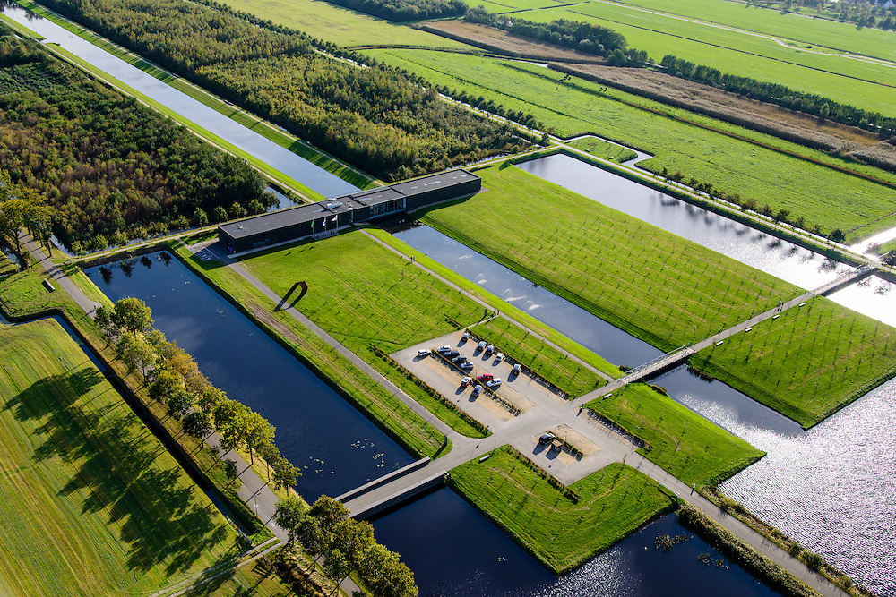 Nederland, Friesland, Gemeente Heerenveen, 10-10-2014; Museumpark Landgoed Oranjewoud met Museum Belvedere.<br /> Museum Park Oranjewoud Estate with Museum Belvedere.<br /> luchtfoto (toeslag op standard tarieven);<br /> aerial photo (additional fee required);<br /> copyright foto/photo Siebe Swart