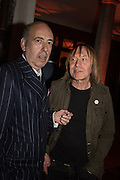MICK JONES; JAMES PUTNAM, Sarah Lucas- Scream Daddio party hosted by Sadie Coles HQ and Gladstone Gallery at Palazzo Zeno. Venice. 6 May 2015.
