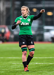 Ireland women's Claire Molloy<br /> <br /> Photographer Craig Thomas/Replay Images<br /> <br /> International Friendly - Wales women v Ireland women - Sunday 21th January 2018 - CCB Centre for Sporting Excellence - Ystrad Mynach<br /> <br /> World Copyright © Replay Images . All rights reserved. info@replayimages.co.uk - http://replayimages.co.uk