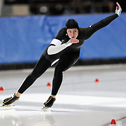 September 18, 2010 - Kearns, Utah - Brittany Bowe races in long track speedskating time-trials held at the Utah Olympic Oval.