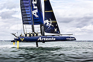 Artemis Racing's first sail with the new boat