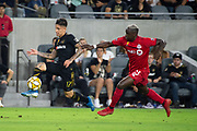 LAFC forward Brian Rodriguez (9) in action during an MLS soccer game between the LAFC and the Toronto FC. LAFC and Toronto FC tied 1-1 on Saturday, Sept 21, 2019, in Los Angeles. (Ed Ruvalcaba/Image of Sport)