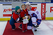 KELOWNA, CANADA - SEPTEMBER 21: Second Star of the Game Filip Král #18 of the Spokane Chiefs at the Kelowna Rockets game on September 21, 2019 at Prospera Place in Kelowna, British Columbia, Canada. (Photo By Cindy Rogers/Nyasa Photography, *** Local Caption ***
