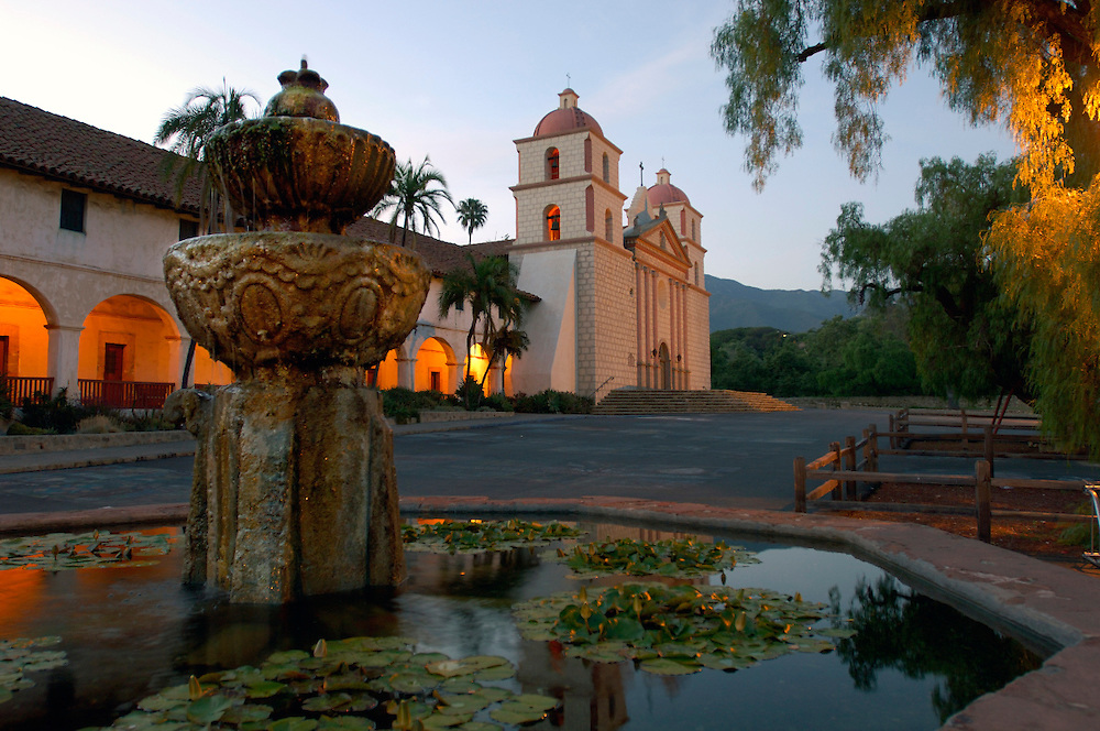 Fountain, Old Santa Barbara Mission, Santa Barbara, California, United States of America