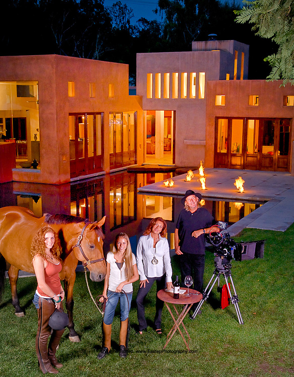 Director David Cornell and Family at home in Brentwood, CA.  GE-Monogram Advertising Campaign
