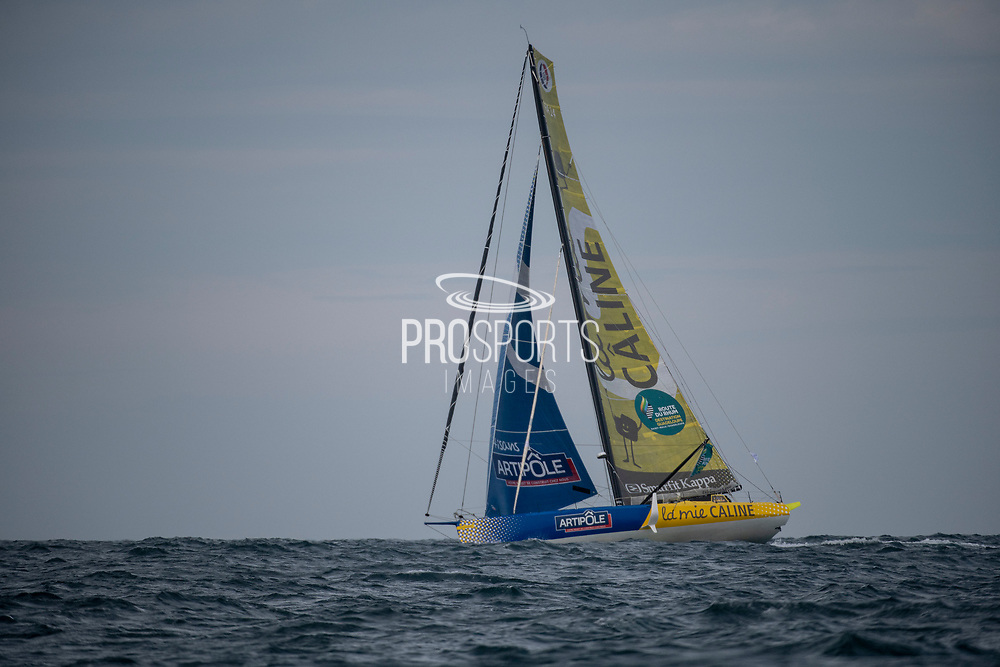 Imoca La Mie Caline (Arnaud Boissières) during the Route du Rhum 2018 race start in Saint Malo, France, on November 4th, 2018 - Photo Olivier Blanchet / ProSportsImages / DPPI