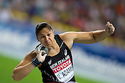 Valerie Adams from New Zealand competes in women's shot put final during the 14th IAAF World Athletics Championships at the Luzhniki stadium in Moscow on August 12, 2013.<br /> <br /> Russian Federation, Moscow, August 12, 2013<br /> <br /> Picture also available in RAW (NEF) or TIFF format on special request.<br /> <br /> For editorial use only. Any commercial or promotional use requires permission.<br /> <br /> Mandatory credit:<br /> Photo by &copy; Adam Nurkiewicz / Mediasport