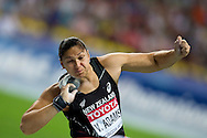 Valerie Adams from New Zealand competes in women's shot put final during the 14th IAAF World Athletics Championships at the Luzhniki stadium in Moscow on August 12, 2013.<br /> <br /> Russian Federation, Moscow, August 12, 2013<br /> <br /> Picture also available in RAW (NEF) or TIFF format on special request.<br /> <br /> For editorial use only. Any commercial or promotional use requires permission.<br /> <br /> Mandatory credit:<br /> Photo by © Adam Nurkiewicz / Mediasport