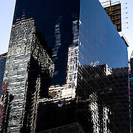 New York. Times square. mirror game on the buidings. Times square area. on renaissance hotel  New york - United states  Manhattan / reflets sur les immeubles de, Times square  New york - Etats unis on hotel