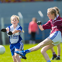 Ellie O'Dwyer scores another goal for Lisdoonvara against Kilkee/Moyasta.<br /> <br /> Lisdoonvarna Parish Schools v Scoil Réalt na Mara, Kilkee/Moyasta NS, in Division 3  Clare Primary Schools Ladies Football Finals at Cusack Park, Ennis, Co. Clare
