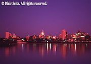 PA Capitol, Harrisburg Skyline, Susquehanna River, Night Lights