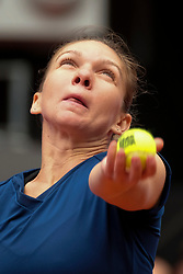 Simona Halep of Romania  against Coco Vandeweghe of USA  during day six of the Mutua Madrid Open tennis at La Caja Magica on May 11, 2017 in Madrid, Spain. (Photo by Oscar Gonzalez/NurPhoto) *** Please Use Credit from Credit Field ***