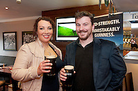 Pictured at the Huntsman, Co. Galway is James and Emma  Doyle from Ballycastle Co. Mayo attending the GUINNESS Mid-Strength Taste Test Tour. Guinness Master Brewer Fergal Murray and former Irish Rugby International Mick Galwey hosted the event, which featured a special Q&A on rugby and a Pour Your Pint Competition. .Full details are available on www.Facebook.com/Guinnessireland GUINNESS Mid-Strength has the unmistakable distinctive taste and is brewed in exactly the same way as GUINNESS, just with less alcohol at 2.8%...The GUINNESS word and associated logos are trademarks...Enjoy Guinness Sensibly...Visit www.drinkaware.ie..